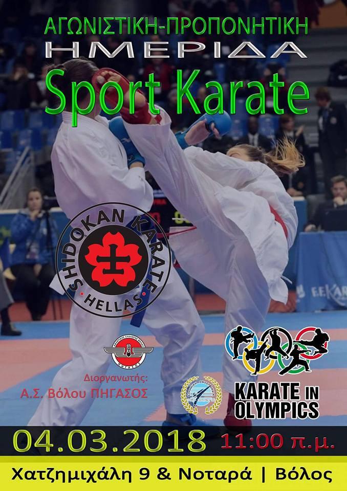 Προπονητική ημερίδα sport karate και kata 04.03.2018